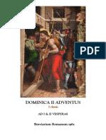 I Y II VÍSPERAS DEL II DOMINGO DE ADVIENTO