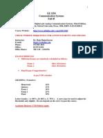 UT Dallas Syllabus for ee3350.001 05f taught by P Rajasekaran (pkr021000)