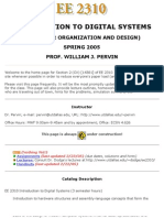 UT Dallas Syllabus for ee2310.002 05s taught by William Pervin (pervin)