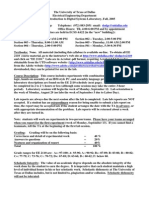 UT Dallas Syllabus for ee2110.501 05f taught by Nathan Dodge (dodge)