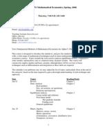 UT Dallas Syllabus for eco4351.501 06s taught by Daniel Obrien  (obri)