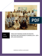 Disaster Response and Contingency Planning 16th – 18th April 2013 Nowshera