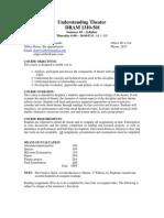 UT Dallas Syllabus for dram1310.521 05u taught by David Edgecombe (dee031000)