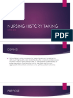Nursing History Taking