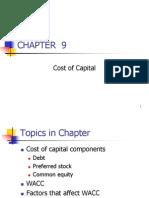 Ch. 9 -13ed Cost of CapitalMaster