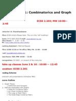 UT Dallas Syllabus for cs6381.081 06u taught by Ramaswamy Chandrasekaran (chandra)