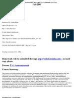 UT Dallas Syllabus for cs6360.501 05f taught by Latifur Khan (lkhan)
