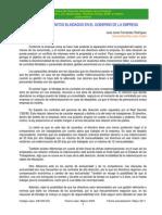 Los contratos blindados en el gobierno de la empresa
