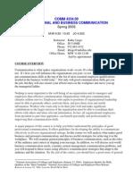 UT Dallas Syllabus for comm4334.001 06s taught by Kathy Lingo (klingo)