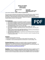 UT Dallas Syllabus for comd7v91.002 06s taught by Erika Armstrong (erikaa)