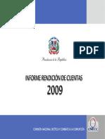 Rendición de Cuentas CNECC 2009