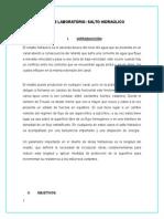 Informe de Salto Hidraulico111111111111111