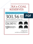 India's Coal Reserves to last 100 years