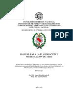 Manual de Elaboracion de Tesis 2012