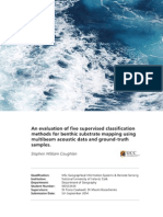 An evaluation of five supervised classification methods for benthic substrate mapping using multibeam acoustic data and ground-truth samples