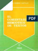 Romera Castillo, Jose - El Comentario Semiotico de Textos (1980)