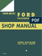 1949 1950 1951 ford passenger car shop manual internal combustion