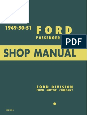 1951 mercury wiring diagram 1949 1950 1951 ford passenger car shop manual internal  1949 1950 1951 ford passenger car shop