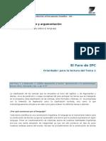 IPC 2014 - El Faro Del Tema 1 - Orientador Para La Lectura