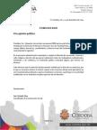 Comunicado Córdoba