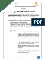 MANUAL DE IMPLEMENTACIÓN DE LOCALES CENTROS COMERCIALES (ANEXO N°3) - ACTUALIZADO