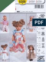 Burda Для Кукол 8308