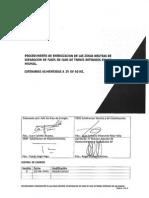 Procedimiento de Energizacion de Las Zonas Neutras de Separacion de Fases en Caso de Trenes Detenidos en Las Mismas. Catenarias Alimentadas a 25 Kv 50 Hz. 10-06-14. Rev. 00