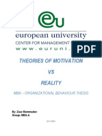 Motivational Theories vs. Real Life