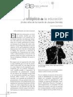La función utópica de la educación (A diez años de la muerte de Jacques Derrida)