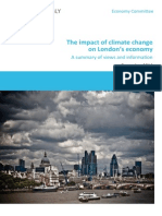 The impact of climate change on London's economy