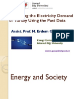 Energy-Society Relation and Demand Prediction