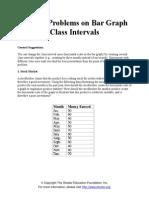 Sample Problems on Bar Graph Class Intervals Doc