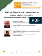 3. Modos y Grados de Relacion e Implicacion en Las Practicas Ariísticas Colaborativas