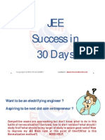 JEE Success in 30 Days for JEE MAIN 2015 Aspirants