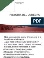 La Tarea Del Historiador Del Derecho