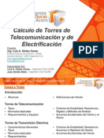 Cálculo Torres Telecomunicación Electrificación LANC CEA AIMM R0