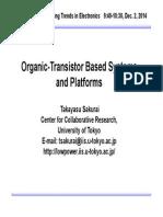Organic-Transistor Based Systems and Platforms - Takayasu Sakurai