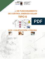 Manual de funcionamiento de control energía solar -  Tipo 6 - Johnson Controls - 2006