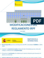 Hacienda Presentacion Reglamento IRPF
