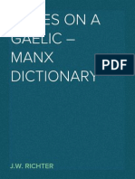 Notes on a Gaelic – Manx Dictionary