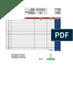 Value Spreadsheet