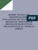 5.0.--Norma Tecnica de Identificacion y Evaluacion de Factoresde Riesgo
