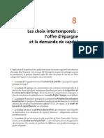 Chapitre 8 Le Choix Intertemporel L'Offre d'Épargne Et La Demande de Capital