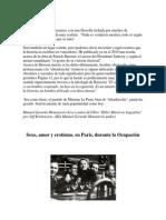 Sexo, Amor y Erotismo, En París, Durante La Ocupación
