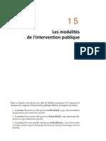 Chapitre 15 Les Modalités de l'Intervention Publique