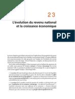 Chapitre 23 L'Évolution Du Revenu National Et La Croissance Économique