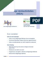 A2 Wiskundige Denkactiviteiten (Dolf Van Den Hombergh en Henk Reuling)