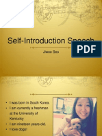 Self Intro Speech