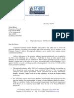 ACLU Social Media Ordinance Letter