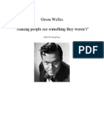 orson welles presentation